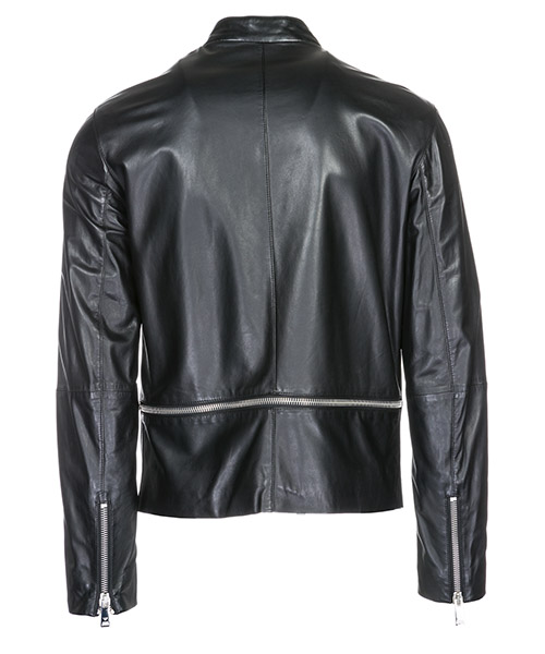 Men's leather outerwear jacket blouson secondary image