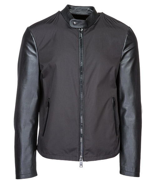 Leather blouson Emporio Armani 21B58P21P58999 nero