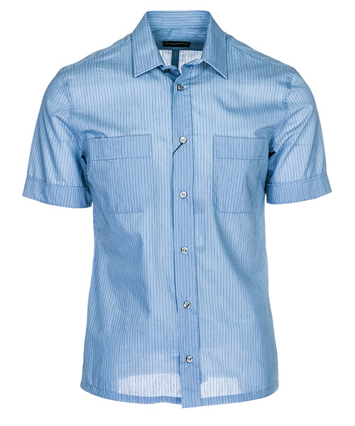 Short sleeve shirt Emporio Armani 21CD3T216F9021 azzurro