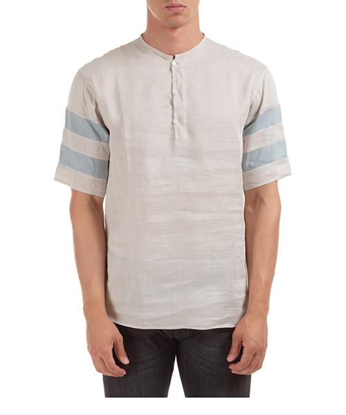 Camisa de mangas cortas  Emporio Armani 21CF6T216F6104 beige