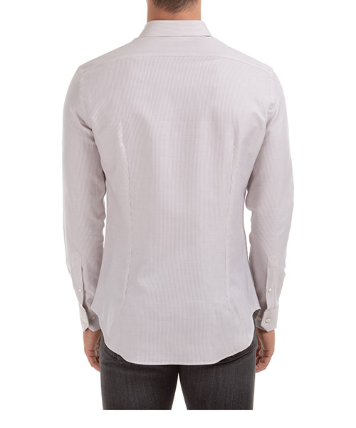 Men's long sleeve shirt dress shirt slim fit secondary image