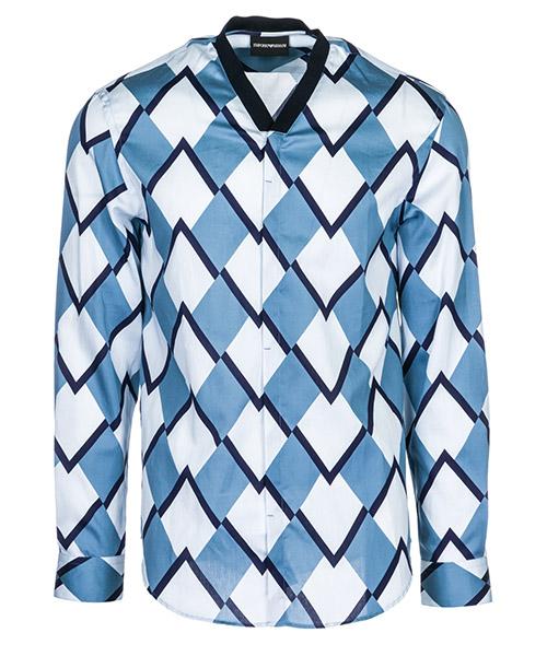 Camicia Emporio Armani 21SMAL211F4041 blu