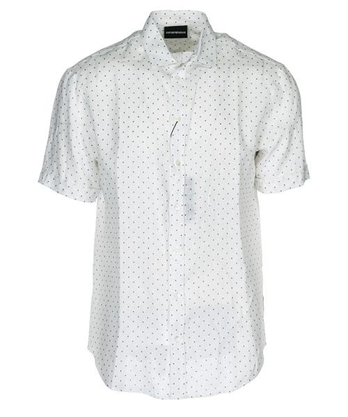Camicia maniche corte Emporio Armani 21SMDM211F0039 bianco