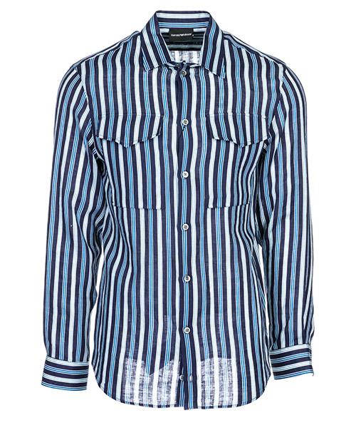 Camicia Emporio Armani 21SMML211F2021 blu