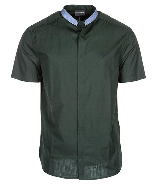 Chemise à manches courtes Emporio Armani 3G1C831V04Z0537 verde scuro