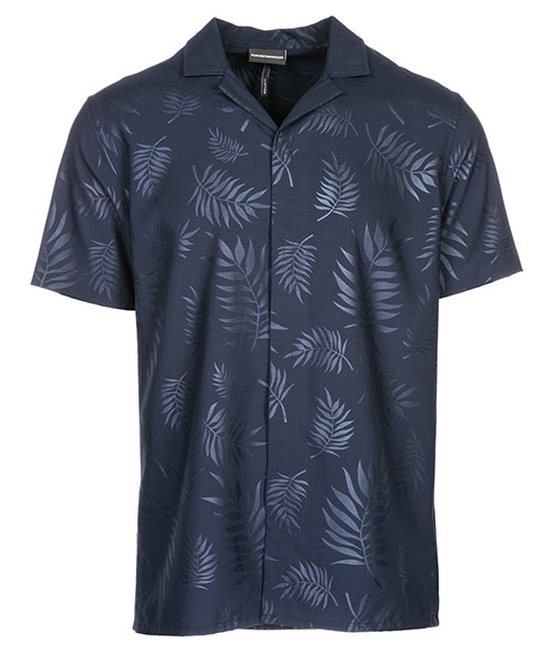 Camicia maniche corte Emporio Armani 3G1CA21NMCZF904 blu