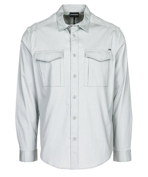 Camicia Emporio Armani 3G1CA41NMQZ0605 grigio luna