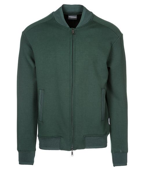 Zip sweatshirt  Emporio Armani 3G1ME21JNHZ0537 verde scuro