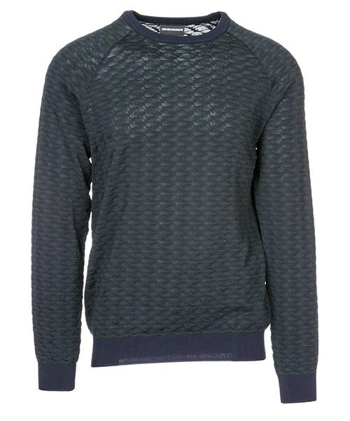 Suéter Emporio Armani 3G1MT51MWSZF920 blu / verde scuro