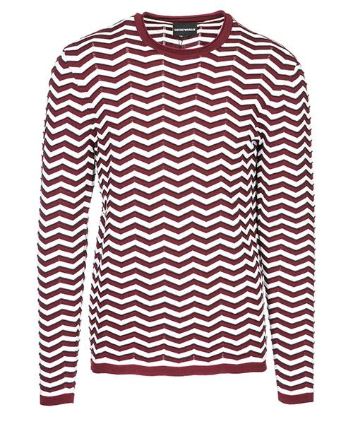Suéter Emporio Armani 3G1MT61MWTZF301 bordeaux - bianco - grigio