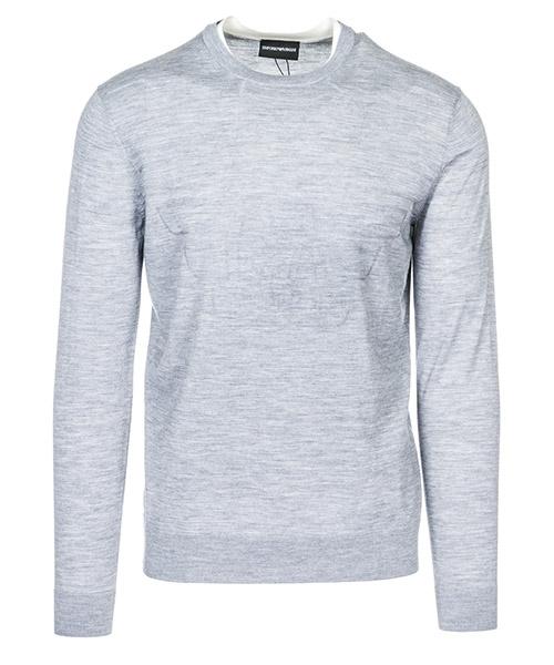 Suéter Emporio Armani 3G1MXE1MXVZF618 aquila grigio