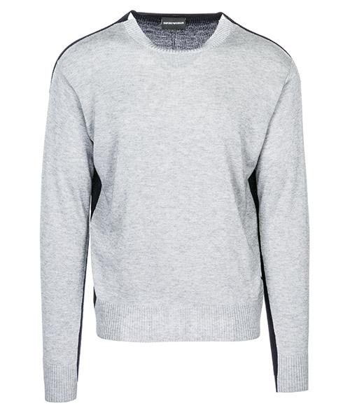 Suéter Emporio Armani 3G1MXG1MXWZF615 grigio melange / blu