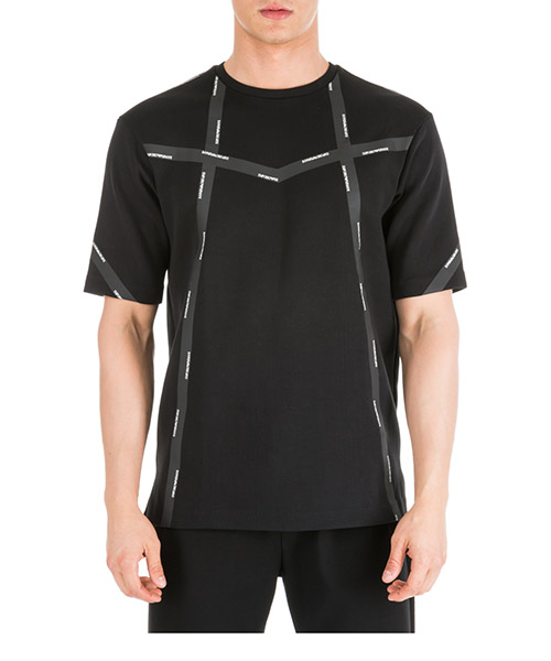 Men's short sleeve t-shirt crew neckline jumper over fit