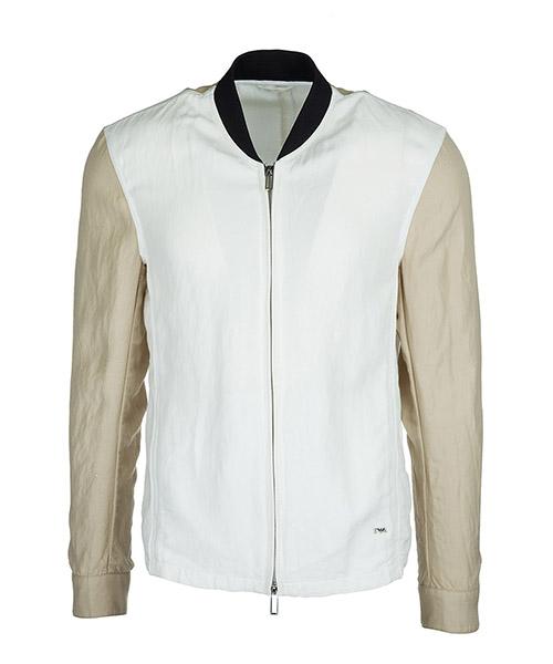 Outerwear blouson Emporio Armani 3Z1BL8 1NFQZ 0100 bianco ottico