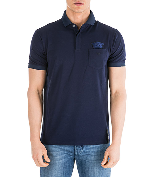 Men's short sleeve t-shirt polo collar regular fit