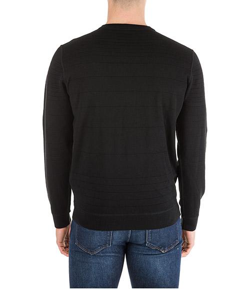 Maglione maglia uomo girocollo regular fit reversibile secondary image