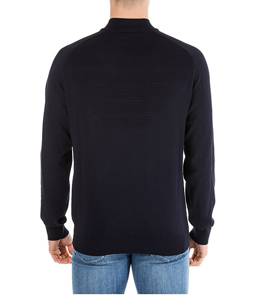 Men's jumper sweater pullover with zip secondary image