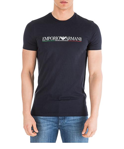 Men's short sleeve t-shirt crew neckline jumper slim fit