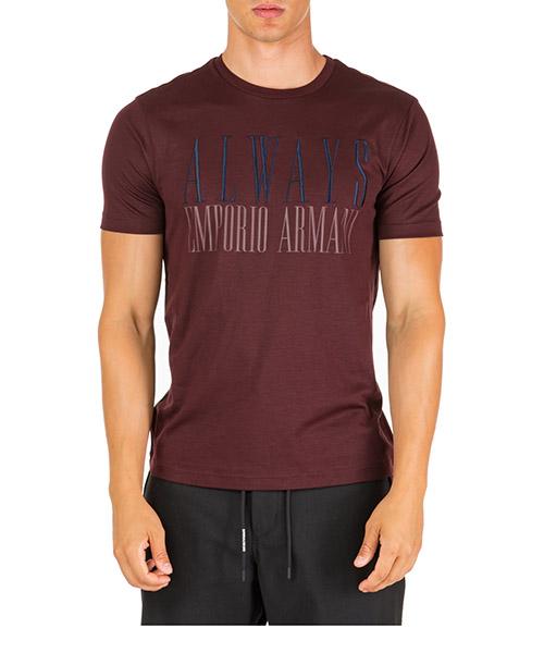 T-shirt Emporio Armani 6G1TF61JPRZ0348 rosso vinaccia