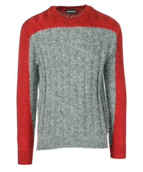 Maglione Emporio Armani 6Z1MX91MQVZF635 grey / red