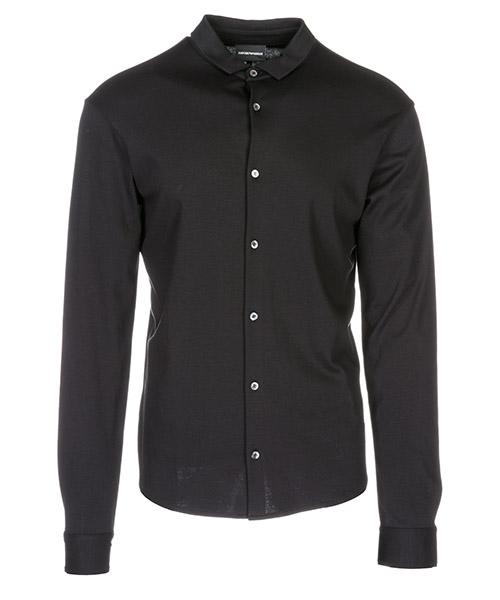 Long sleeve polo t-shirt Emporio Armani 8N1CH61JPRZ0999 nero