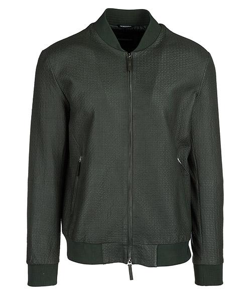 Leather blouson Emporio Armani W1B09P W1P08 508 verde