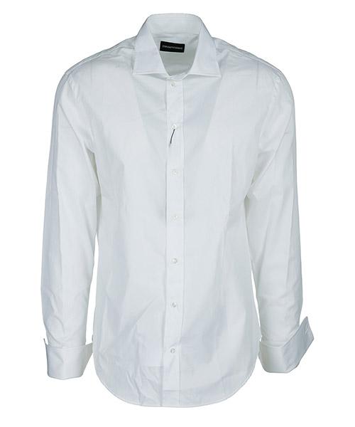 Camicia Emporio Armani W1CM8GW11F1100 bianco
