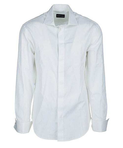 Camicia Emporio Armani W1CMEGW1GC1100 bianco