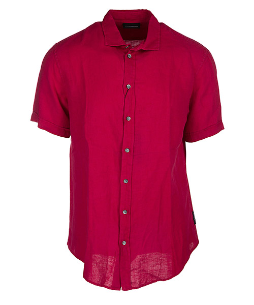 Chemise à manches courtes Emporio Armani W1SMDMW10F7343 rosso