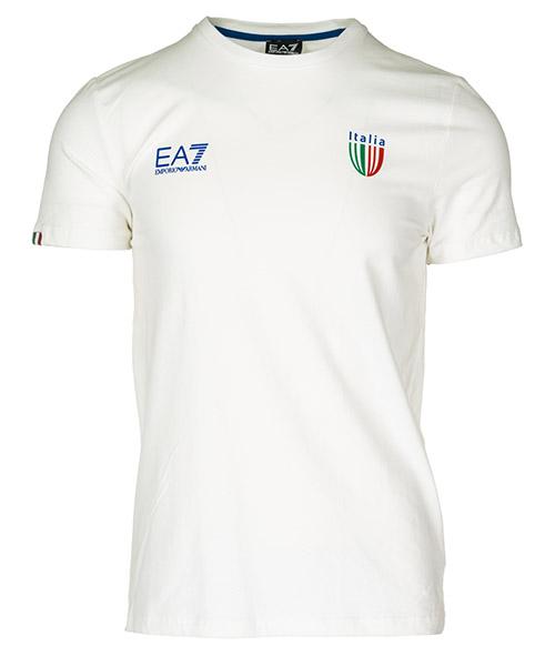 T-shirt Emporio Armani EA7 Italia team 273006CC91400110 bianco