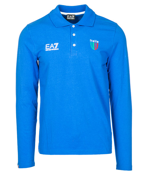 Polo manica lunga Emporio Armani EA7 Italia team 273223CC91412633 true blue