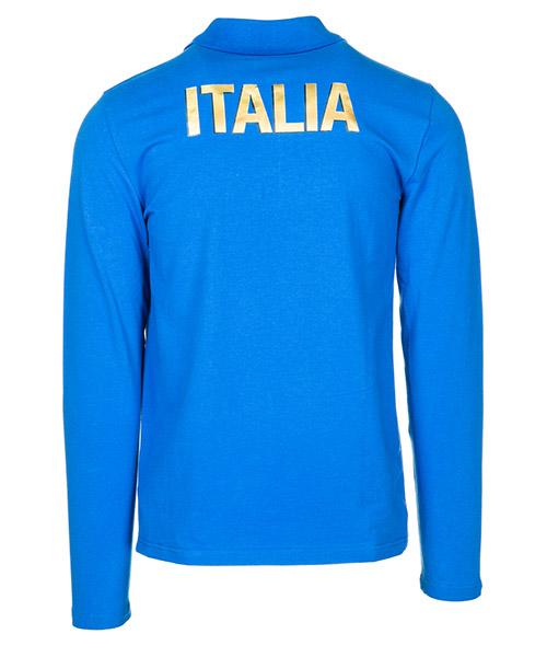 Polo t-shirt maglia maniche lunghe uomo italia team secondary image