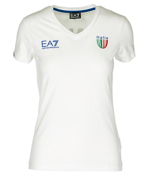 T-shirt Emporio Armani EA7 Italia team 283463CC91400110 bianco