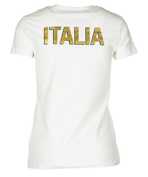 T-shirt maglia maniche corte donna scollo a v italia team secondary image