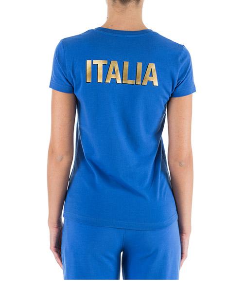 женская футболка с коротким рукавом v образным вырезом italia team secondary image