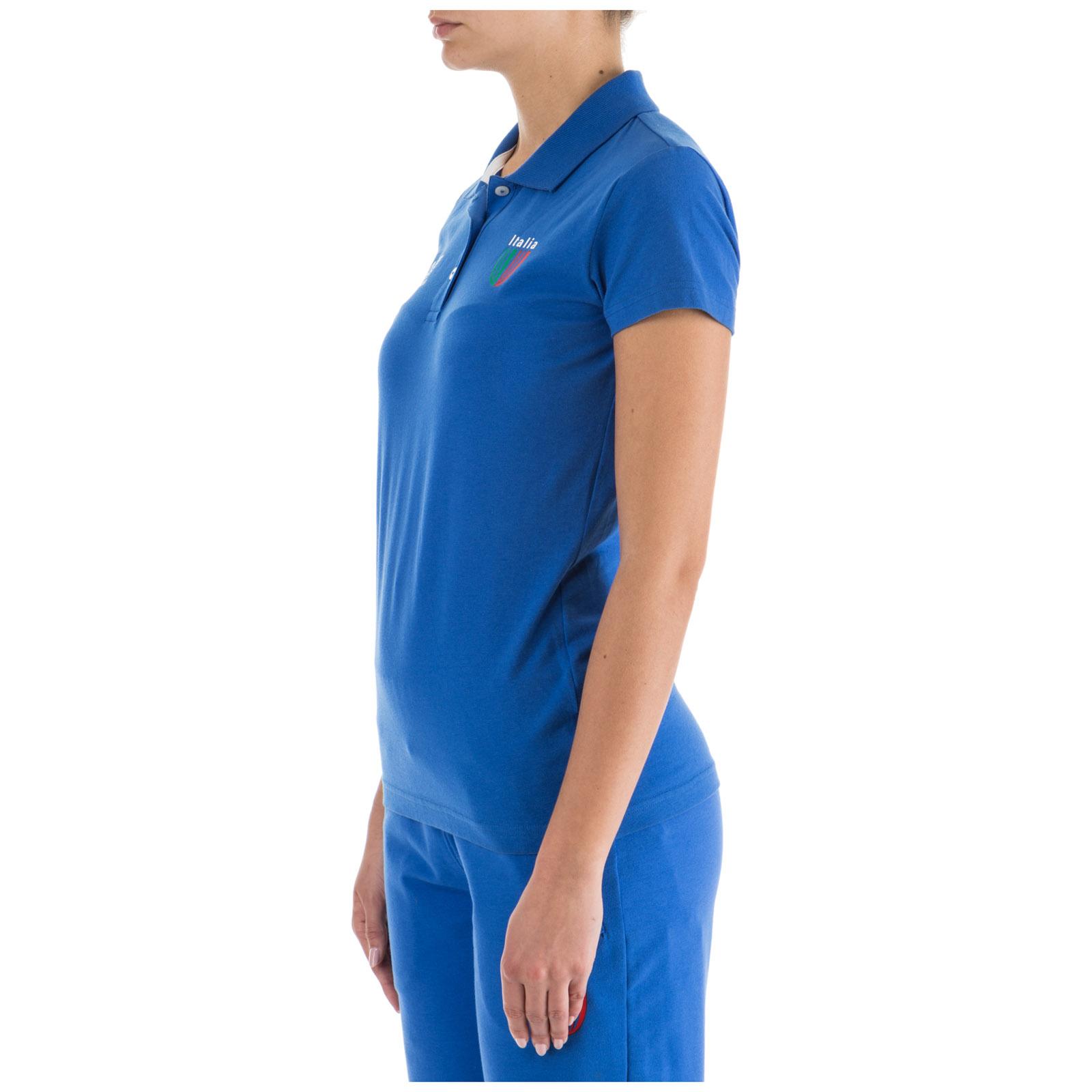 Women's t-shirt polo style short sleeve italia team