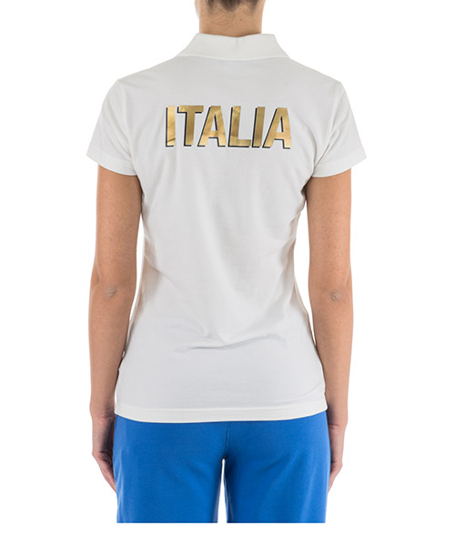 Women's t-shirt polo style short sleeve italia team secondary image