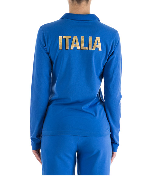 T-shirt polo manches longues femme italia team secondary image