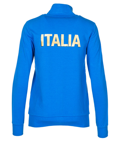 Women's sweatshirt zip up italia team secondary image