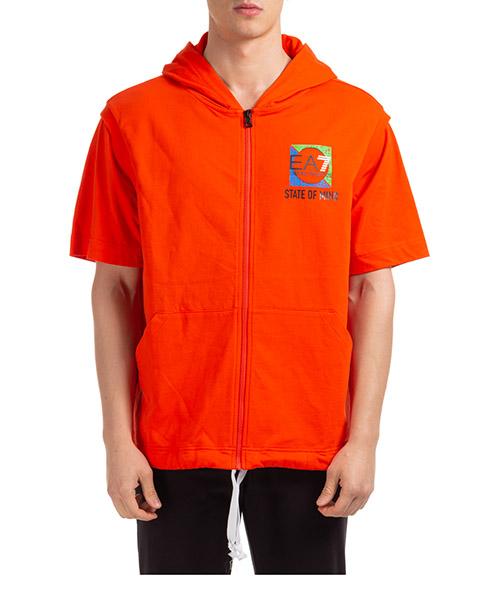 Hoodie Emporio Armani EA7 3HPM63PJ05Z1686 arancio