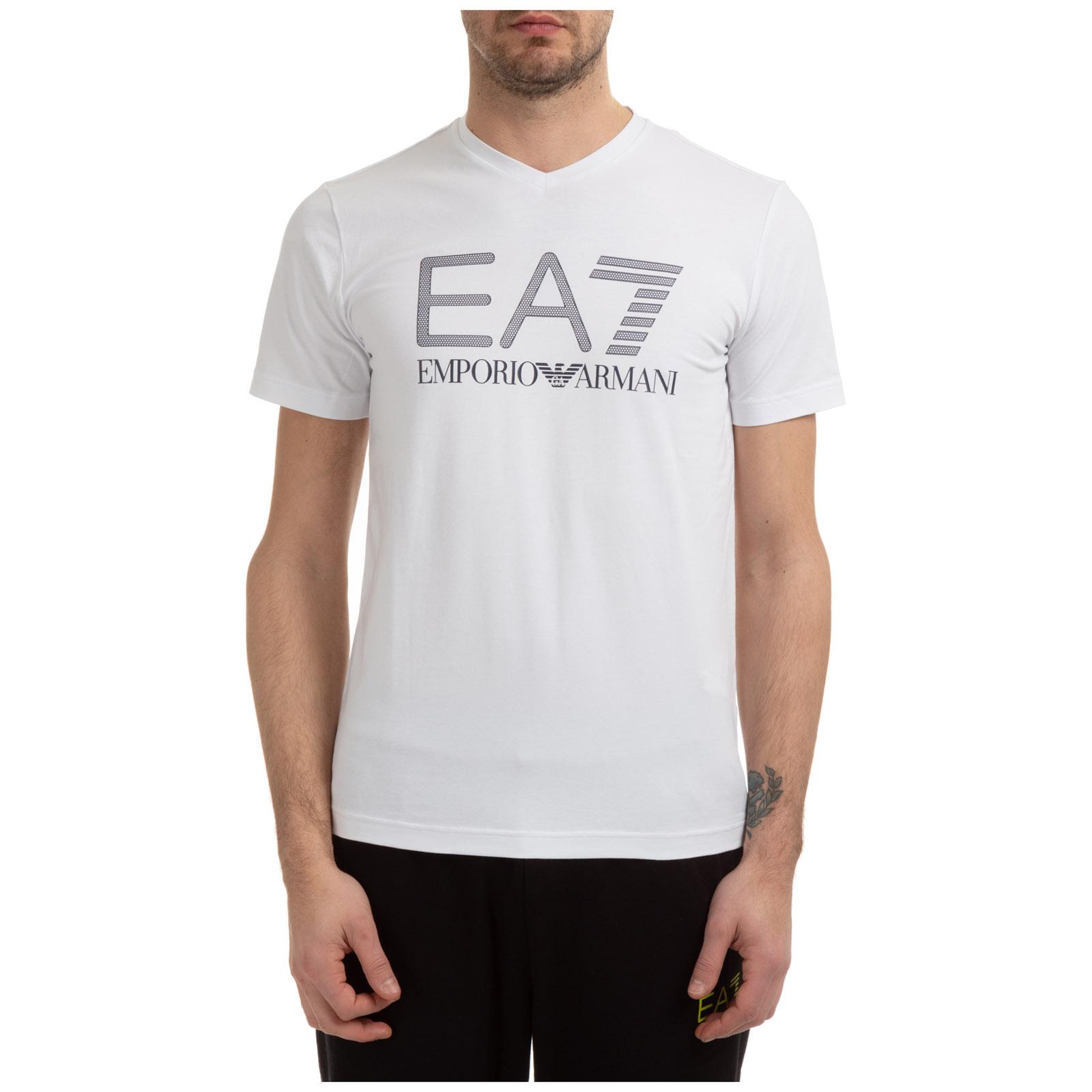 T-shirt maglia maniche corte collo a v uomo