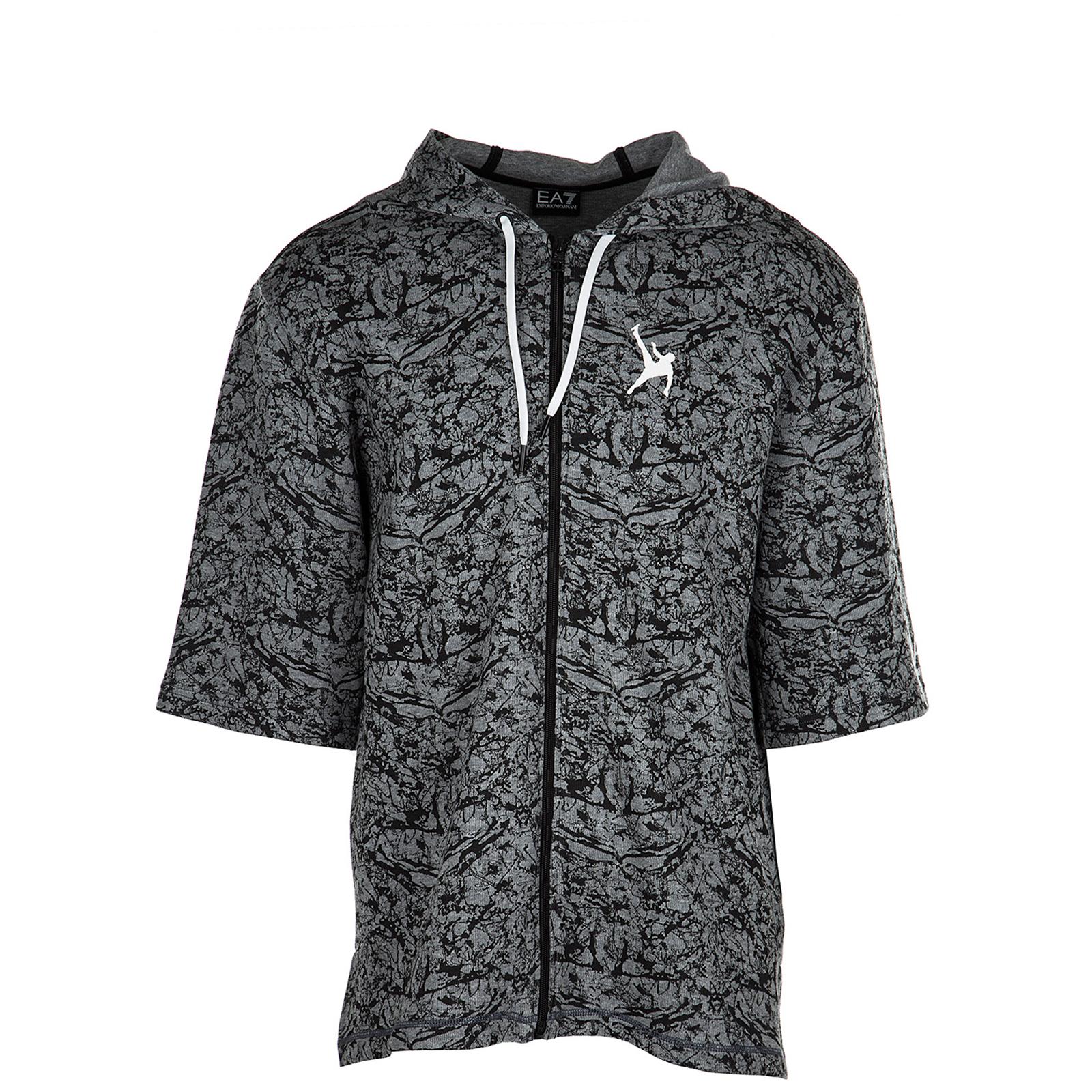 Men's sweatshirt sweat maniche corte