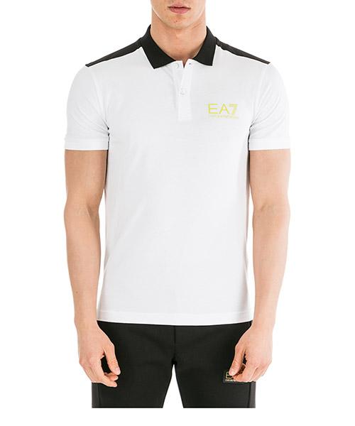 Poloshirt Emporio Armani EA7 6GPF03PJ03Z1100 bianco
