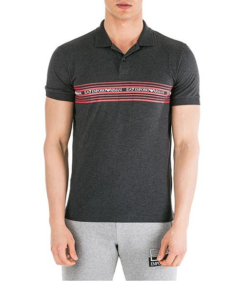 Poloshirt Emporio Armani EA7 6GPF04PJ02Z399 grigio