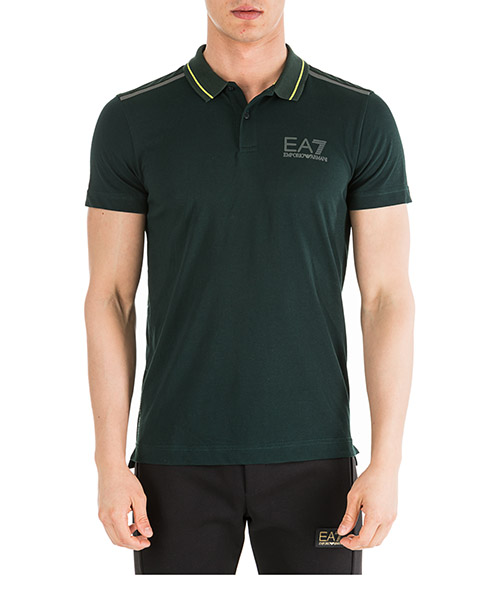 Poloshirt Emporio Armani EA7 6GPF13PJJ6Z1860 verde