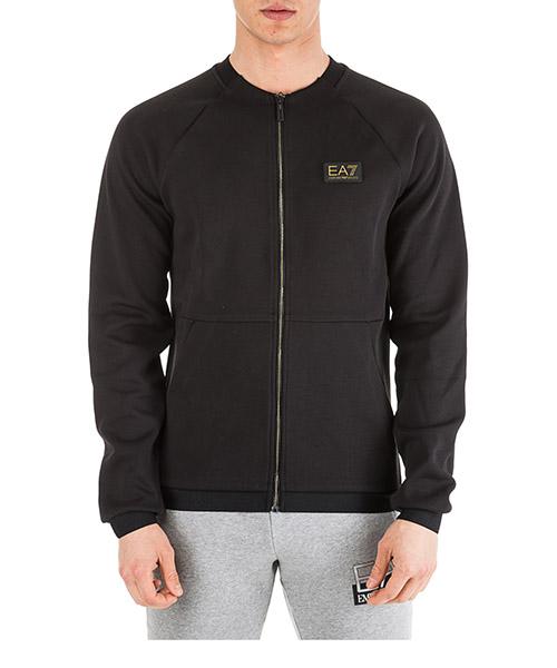 Sweatshirt mit Zip Emporio Armani EA7 6GPM25PJP2Z1200 nero