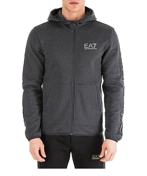 Sweatshirt mit Zip Emporio Armani EA7 6GPM32PJ07Z3909 carbon melange