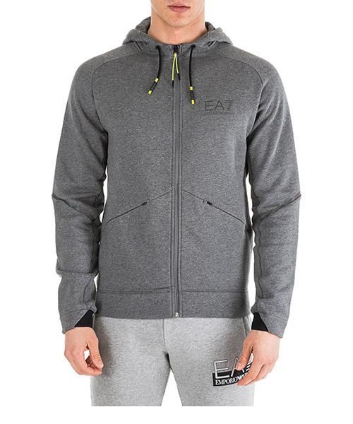 Sweat à capuche Emporio Armani EA7 6GPM45PJR6Z3925 grigio