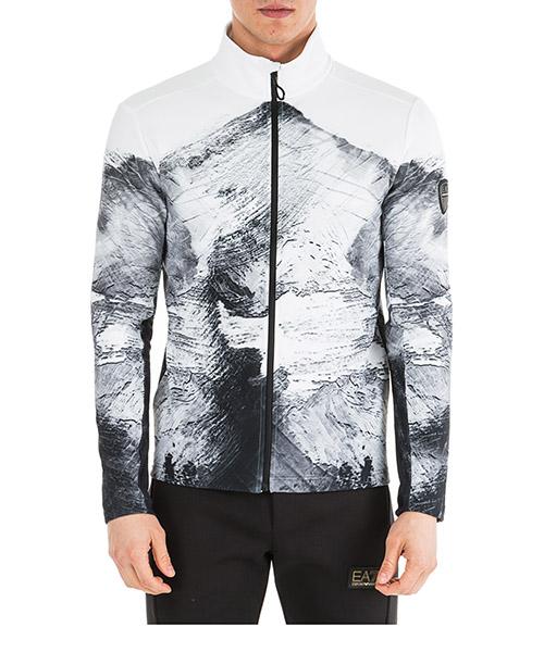 Sweatshirt mit Zip Emporio Armani EA7 6GPM50PJ35Z2119 white mountain