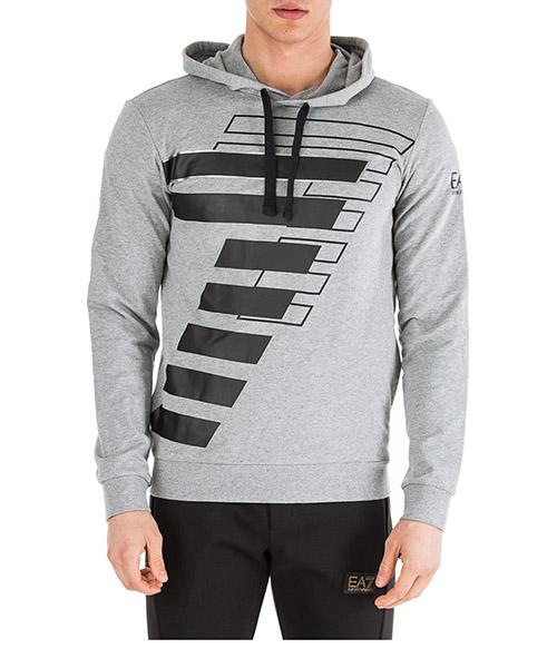 Kapuzensweatshirt Emporio Armani EA7 6GPM58PJ05Z3905 medium grey melange